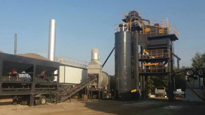 YLB1500 Mobile Asphalt Batch Mix Plant In Indonesia