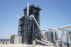 Vertical Drying Tower of JJW4000 Asphalt Plant