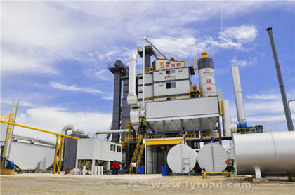 JJW4000 Asphalt Mixing Plant Has Been Successfully Put Into Operation