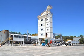 ELB1500 environmental asphalt batch mix plant in Australia