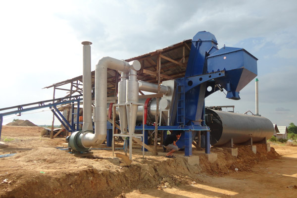 DHB40 Asphalt Mix Plant Delivered to Burma Successfully Installed