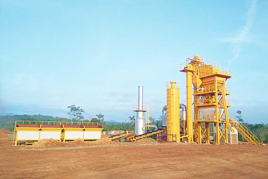 LB500 Asphalt Batch Mix Plant Boost Road Construction in Myanmar