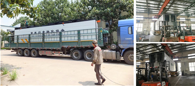 LTT-8H Bagged Bitumen Melting Machine Loaded On the Transport Vehicle and Left for Zambia