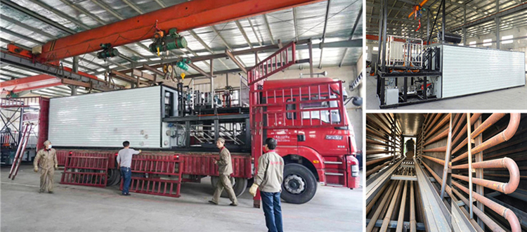 LTT-4 Drummed Bitumen Melting Machine Left Factory For Uzbekistan