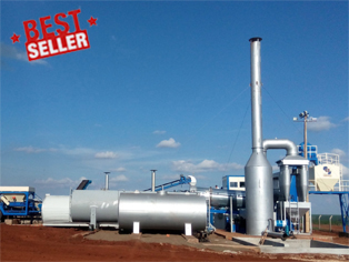 80t/h Counter Flow Continuous Asphalt Drum Mixing Plant, best seller