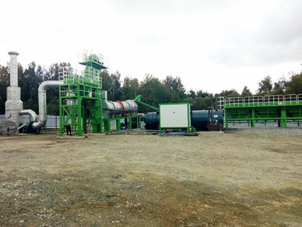 80t/h drum mix asphalt plant