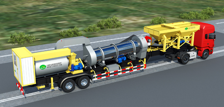 CMB series supermobile asphalt mixing plant in the transportation status