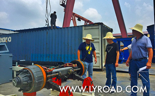 YHZS-35 Mobile Concrete Mixing Plant shipped to Uzbekistan