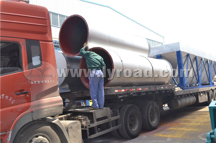 LB1000 asphalt mixing plant was transported to Shennongjia