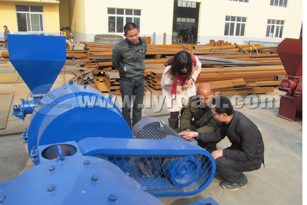 Customer checked the coal crusher