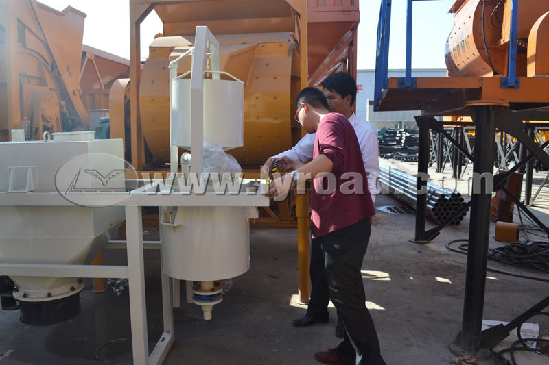 HZS25 Concrete Mixing Plant Through The Third Part Testing