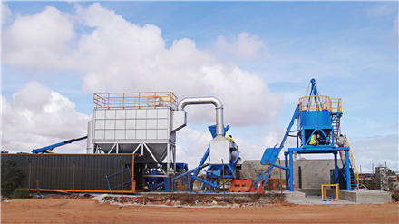 SLB asphalt drum mix plant manufactured by Liaoyuan Machinery