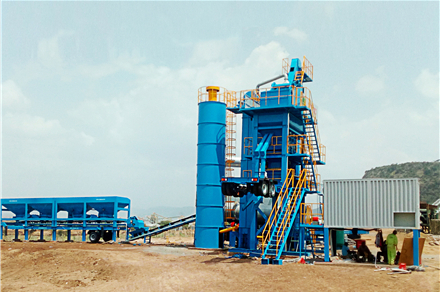 YLB series mobile asphalt mixing equipment manufactured by Liaoyuan Machinery