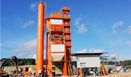 LB series asphalt batch mix plant manufactured by Liaoyuan Machinery
