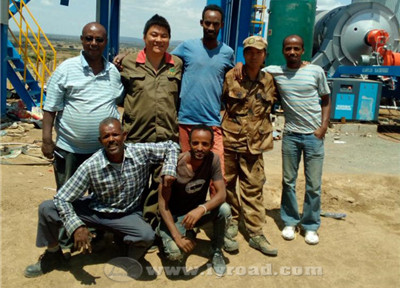 Our technician and local workers finished installation together in Ethiopia