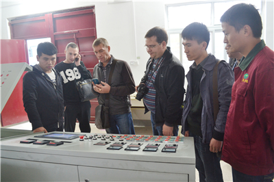 Russian customers visiting our workshop