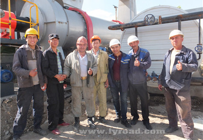 Our technicians and local workers finished installation together in Uzbekistan