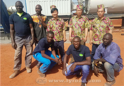 Our technicians and local workers finished installation together in Mali